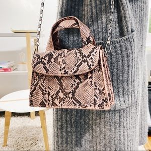 ZARA Snakeskin Crossbody Bag